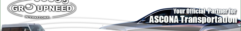 Airport transfer to Ascona from Zurich with Limousine / Minibus / Helicopter / Limousine